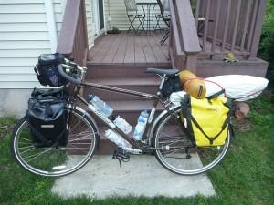 Bike fully loaded.